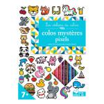 Carnet de coloriage Colos Pixel + 10 crayons