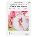 Kit savoir-faire Broderie décorative fleurs des champs