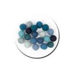 Boule en feutre 1,5 cm - Bleu