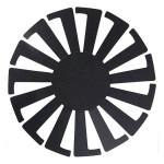 Gabarit pour tissage de panier Ø 14 cm H. 14 cm Noir