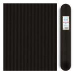 Carton ondulé média 300g - Noir - 70 x 50 cm