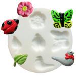 Moule en silicone thème nature - 5 formes - diam. 7 cm