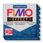 Pâte polymère Fimo Effect 56g - 302 - Bleu pailleté