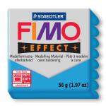 Pâte polymère Fimo Effect 56g - 374 - Bleu translucide