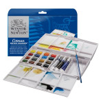 Aquarelle fine Cotman 16 demi-godets + 3 tubes Boite Painting Plus