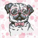 Broderie Diamant kit intermédiaire Chien Hug a Pug