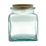 Pot en verre Carré 11 cm