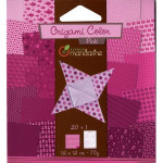 Pochette Origami Color - 12 x 12 cm -  Rose