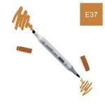 Marqueur à alcool double-pointe Ciao - E37 Sépia