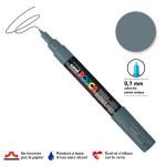 Marqueur pointe conique PC-1MC extra-fine 1mm - Gris ardoise
