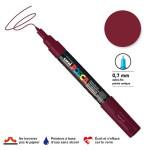 Marqueur pointe conique PC-1MC extra-fine 1mm - Lie de vin