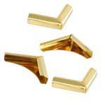 Coins en métal or 21 x 21mm