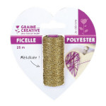 Bobine de fil métallique String art Or x 25 m