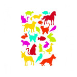 Gommettes Initial animaux x 4 planches