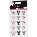Stickers 3D Cooky thème chiens