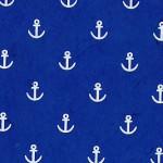 Papier Lokta Imprimé 50 x 75 cm Navy motif Ancre