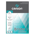 Canson Bristol Extra lisse 250g/m², bloc collé petit côté A3 - 29,7 x 42cm