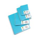 Carnet Dessin Notes couverture polypropylène Bleu 50 F - 14,8 x 10,5 cm (A6)