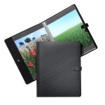 Press-book Pampa noir + 20 pochettes - 15 x 21 cm