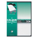 Bloc de papier calque Croquis échelle 92 g/m² 50 feuilles - 29,7 x 42 cm (A3)