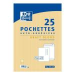 Pochettes auto-adhésives A4 Kraft 25 pcs