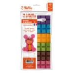 Cire à modeler couleurs Vives n°2 6 x 40 g + Mèche 1 m