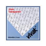 Plaque de plastique transparent 50 x 40 cm ep. 1 mm