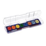Gouache en pastilles métallisée 8 couleurs