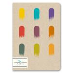 Mini-cahier pages blanches 12 x 17 cm 100 g/m² 64p Gouaches