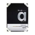 Cadre en aluminium Alpha Noir anodisé Mat - 29,7 x 42 cm