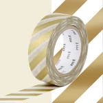 Masking Tape 1P Rayure or 15 mm x 10 m