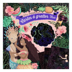 Pochette Mes créations : Carte à gratter Fluos