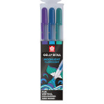 Stylo gel Gelly Roll 3 couleurs Set Moonlight Ocean bleu