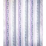 Papier Japonais 52 x 65,5 cm 100 g/m² Fleurs fond Mauve & Argent