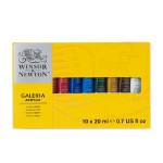 Peinture acrylique fine Galeria Assortiment 10 tubes 20 ml
