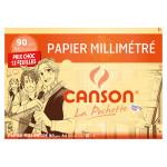 Papier millimétré 90 g/m² A4 Pochette 12 feuilles