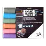 Marqueur textile Opaque 7A Set pastel 6 couleurs