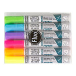 Marqueur textile Tissus clairs 7A Set fluo 6 couleurs