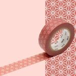 Masking Tape 1P Asanoha karekusa 15 mm x 10 m