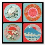 Dessous de verre 10 x 10 cm Fujiyama x 4 pcs