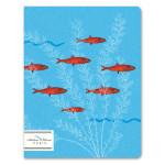 Cahier ligné numéroté 17 x 22 cm 100 g/m² 64 p Les poissons rouges