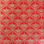 Papier Lokta Imprimé 50 x 75 cm Tsuru Précieux rouge