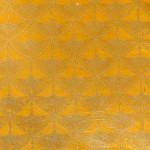 Papier Lokta Imprimé 50 x 75 cm Tsuru Précieux jaune