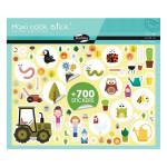 Gommette Maxi Book Stick thème Jardin 700 pcs
