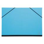 Carton à dessin à élastiques 37 x 52 cm Turquoise