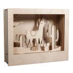 Cadre en bois 3D à monter Kit Lama 24 x 20 x 6,9 cm