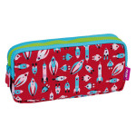 Trousse 3 fermetures Super Heroes Space rose lumineux