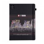 Carnet de dessin Sketch Note Book papier Noir 140 g/m² 80 F - 12 x 12 cm