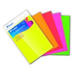 Papier bristol A4 Fluorescent 5 feuilles assorties 250 g/m²