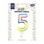 Bougie d'anniversaire Chiffre 5